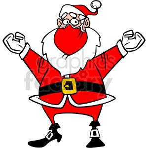 Christmas Santa wearing mask vector clipart clipart. Commercial use image # 414673