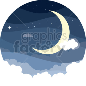 moon vector clipart icon clipart. Commercial use image # 414739