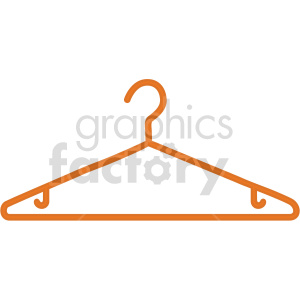 orange plastic hanger vector graphic clipart. Commercial use image # 414804