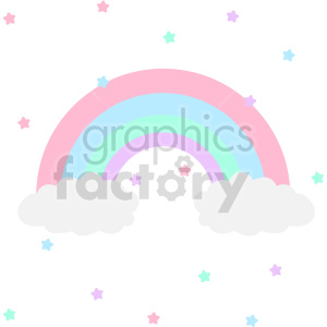 rainbow vector clipart clipart. Commercial use image # 414807