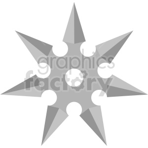 six point ninja star vector clipart clipart. Commercial use image # 414820