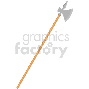 spear axe weapon vector clipart clipart. Commercial use image # 414826