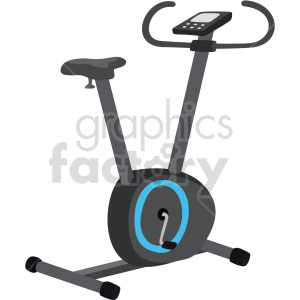 clipart - bicycle exercise machine vector graphic.