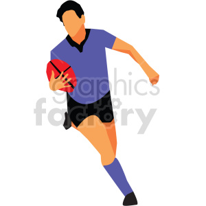 Olympic rugby player vector design clipart. Commercial use image # 414928