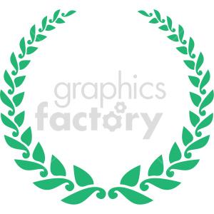 clipart - green laurel wreath design vector clipart.