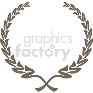 clipart - creative laurel wreath design vector clipart.