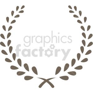 clipart - simple laurel wreath design vector clipart.