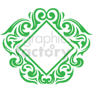 square frame design vector clipart clipart. Commercial use image # 415069