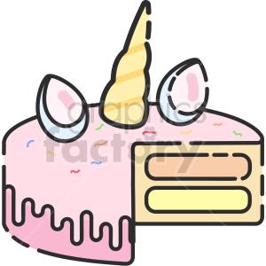 unicorn cake clip art image clipart. Commercial use image # 415098