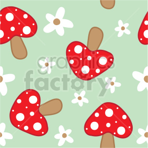 seamless mushroom background graphic clipart. Commercial use image # 415104