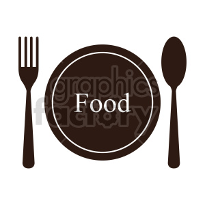 food plate vector clipart clipart. Commercial use image # 415158