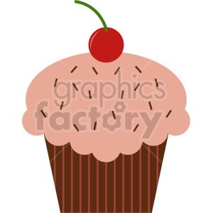cup cake vector clipart 1 clipart. Commercial use image # 415171