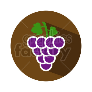 grape vector icons 1 clipart. Commercial use image # 415199