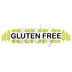 gluten free text vector graphic clipart. Commercial use image # 415220