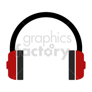 silhouette music headphones vector icon clipart. Commercial use image # 415244