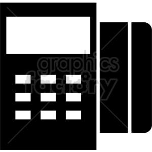 credit card swip machine vector clipart. Commercial use image # 415259