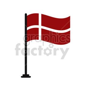 Denmark flag vector clipart clipart. Commercial use image # 415319