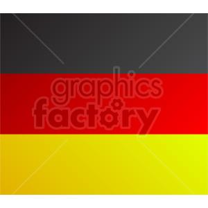 clipart - German flag vector clipart icon 09.