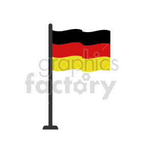 clipart - German flag vector clipart icon 03.