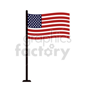 flag of United States vector clipart 01 clipart. Commercial use image # 415361