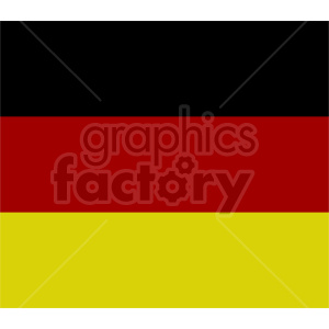 clipart - German flag vector clipart icon 07.