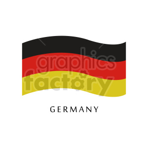 clipart - German flag vector clipart with label.