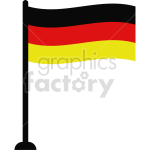 clipart - flag of Germany vector clipart icon 01.