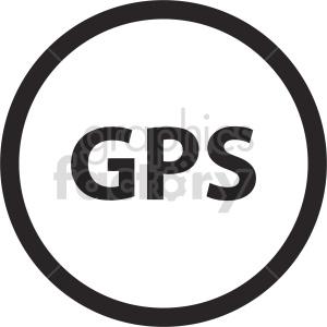 clipart - gps icon vector clipart.