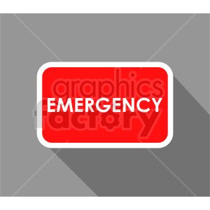 emergency sign vector graphic clipart. Commercial use image # 415490