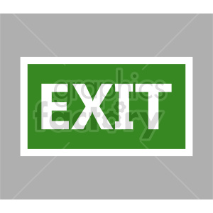 exit sign vector graphics clipart. Commercial use image # 415503