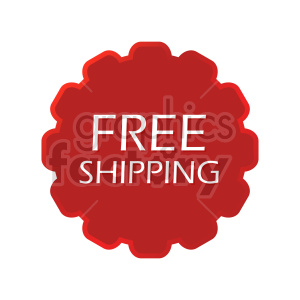 clipart - red free shipping icon vector clipart.