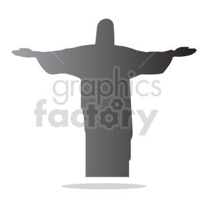 jesus gradient silhouette vector clipart