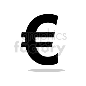 euro symbol clipart clipart. Commercial use image # 415557