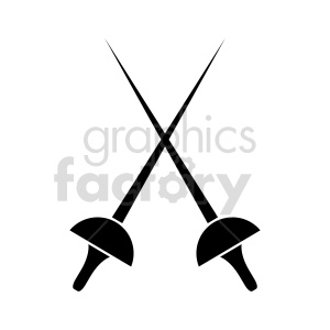 fencing swords vector clipart icon clipart. Commercial use image # 415611