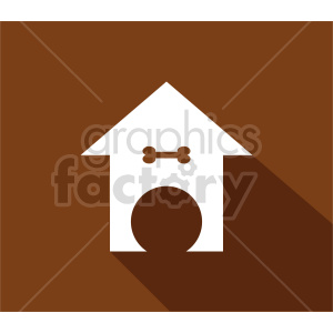 dog house vector icon clipart. Commercial use image # 415651