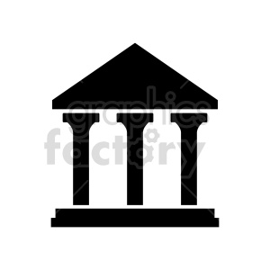vector silhouette pillar design clipart. Commercial use image # 415682