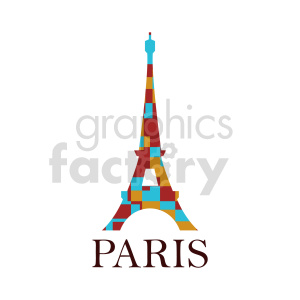 Eiffel Tower Paris France royalty free vector clipart clipart. Commercial use image # 415686