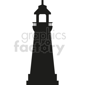 lighthouse outline vector graphic clipart. Commercial use image # 415703