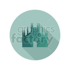Duomo di Milano vector design clipart. Commercial use image # 415727