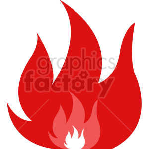 red fire vector clipart clipart. Commercial use image # 415808