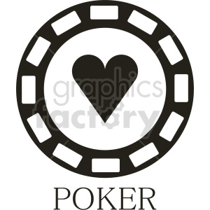 poker chip vector clipart 08 clipart. Commercial use image # 415837
