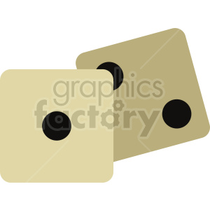 yellow dice vector clipart clipart. Commercial use image # 415846