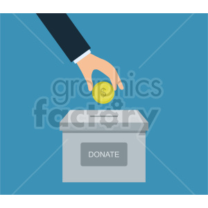 hand donating money vector clipart. Commercial use image # 415858
