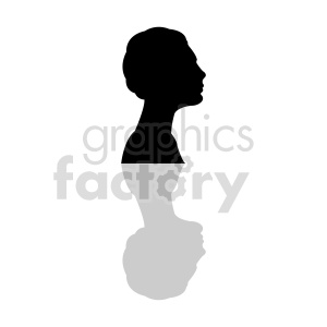 silhouette profile of African American womans head clipart clipart. Commercial use image # 415861