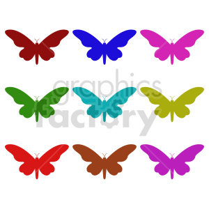 butterfly silhouette vector clipart 02_1 clipart. Commercial use image # 415917