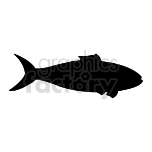 fish silhouette vector shape clipart. Commercial use image # 415951
