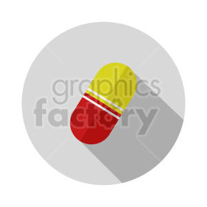 red yellow pill on circle background vector clipart clipart. Commercial use image # 415991