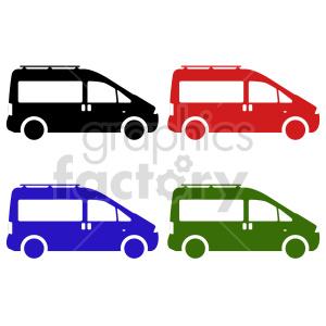 mini van bundle vector clipart clipart. Commercial use image # 416021