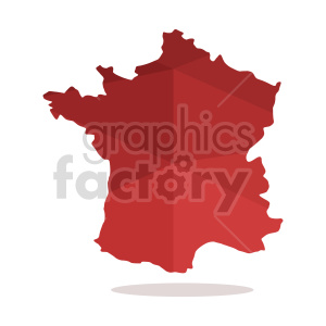 france red geometric vector clipart clipart. Commercial use image # 416058