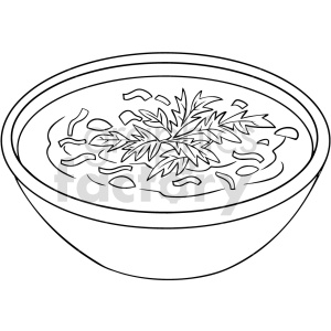 black and white soup ramen vector clipart clipart. Commercial use image # 416121